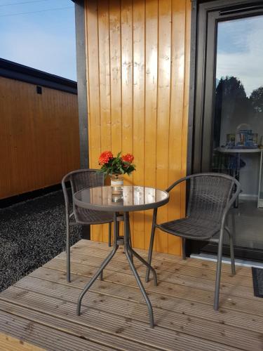 A balcony or terrace at Portglenone Garden Rooms