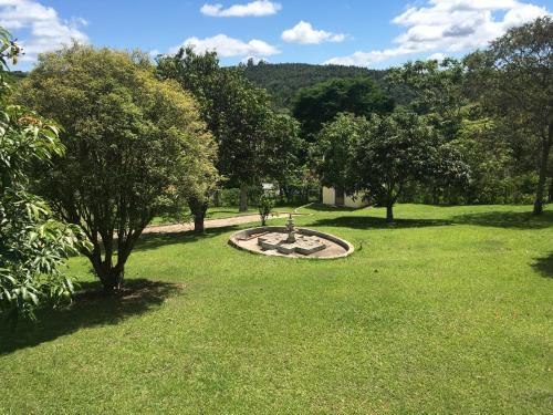 A garden outside Chácara São Francisco