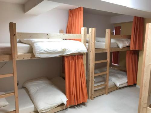 レオスターホステルにある二段ベッド