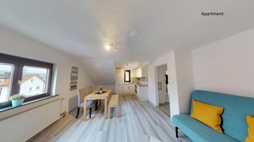 Ein Sitzbereich in der Unterkunft Apartments Mosbach