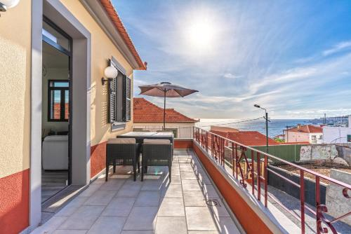 A balcony or terrace at Lazareto Apartment by HR Madeira