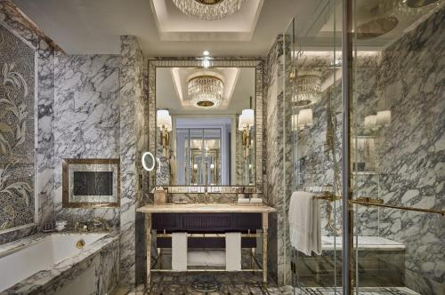 A bathroom at The Ritz-Carlton, Macau