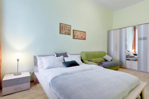A bed or beds in a room at Apartment on Luiteranska Street 3 -61-TWO SEPARATE BEDROOM