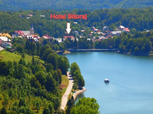 A bird's-eye view of Hotel Bitoraj Fužine