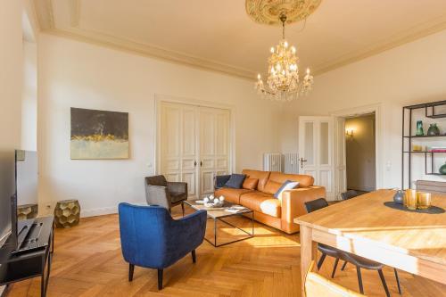 Ein Sitzbereich in der Unterkunft FEWO Taubenhaus EG Weingut CA-Haussmann