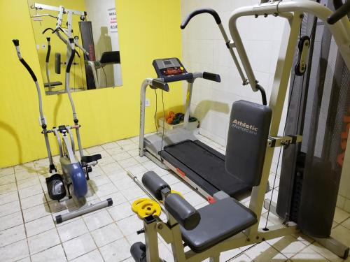 The fitness center and/or fitness facilities at JR Hotel