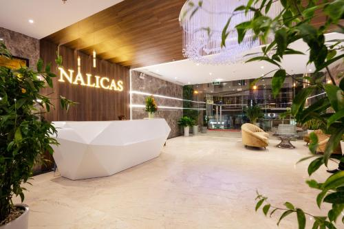 The lobby or reception area at Nalicas Hotel