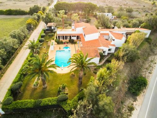 Uma vista aérea de Quinta das Oliveiras