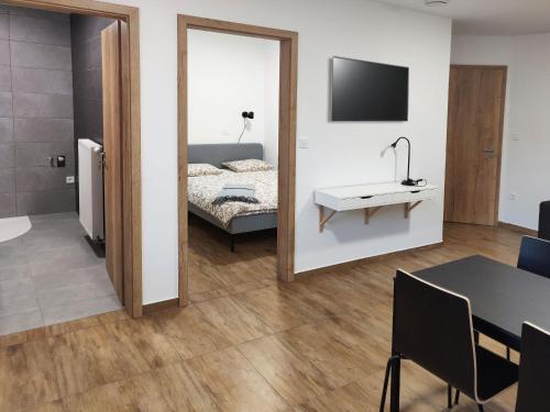 Postelja oz. postelje v sobi nastanitve PUBYLAND ROOMS & APARTMENTS