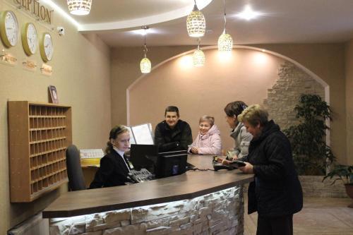 Лобби или стойка регистрации в Гостиница Юность
