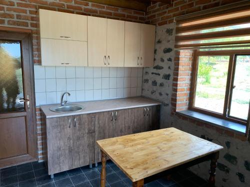 A cozinha ou cozinha compacta de Hope Lake