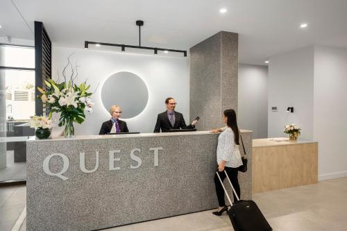 The lobby or reception area at Quest Goulburn