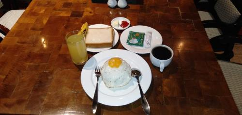 Breakfast options available to guests at Nest Hostel Yangon
