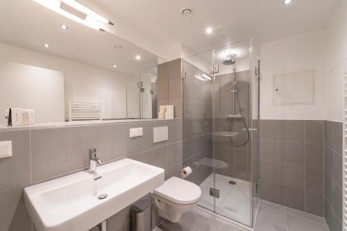Ein Badezimmer in der Unterkunft RHC Central Station Premium Apartments | contactless check-in