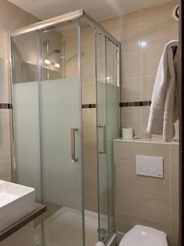 Ванная комната в Hotel Belfort