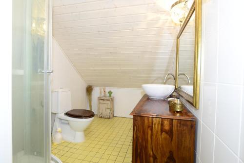 Kylpyhuone majoituspaikassa Guesthouse Torppa