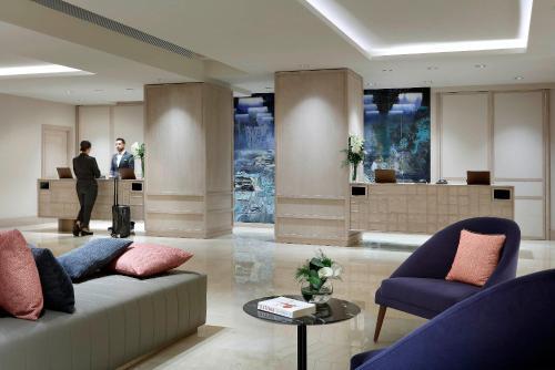The lobby or reception area at Hyatt Regency Hesperia Madrid