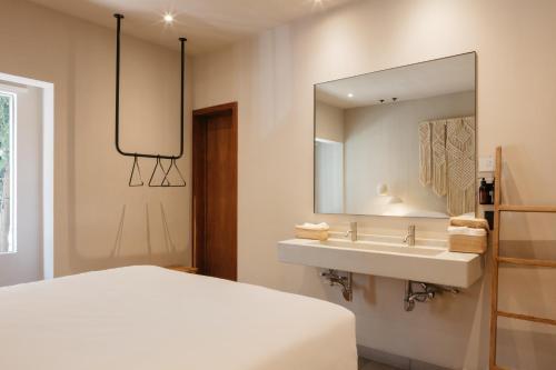 A bathroom at Casa Pancha