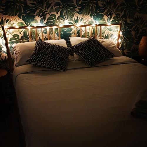 Letto o letti in una camera di Casa Angelina