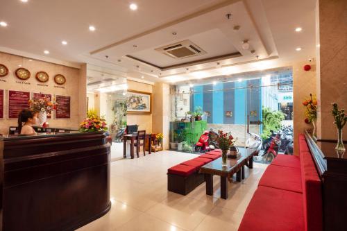 The lobby or reception area at Azura Hotel