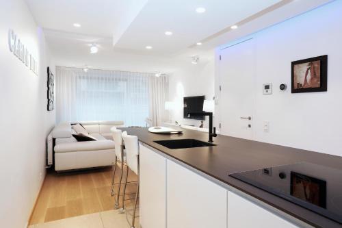 Een keuken of kitchenette bij Luxury Suite Koksijde 102 Adult only!