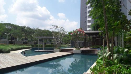 The swimming pool at or near Senibong Suite 1