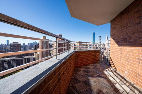 A balcony or terrace at NY Medical and Business 30 Day Rentals