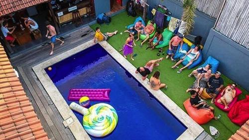 A view of the pool at The Tipsy Gypsy Hostel or nearby