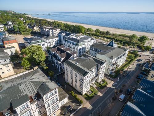 Blick auf Villa Ahlbeck Haus 2 aus der Vogelperspektive