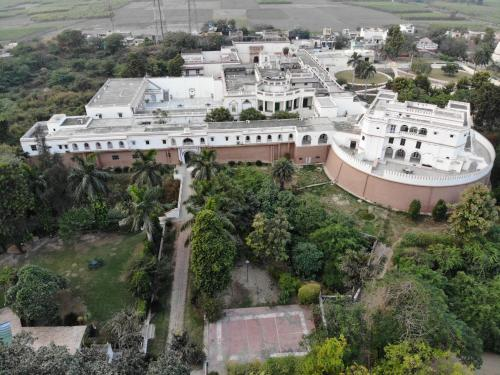 A bird's-eye view of Aamod Mud Fort Kuchesar