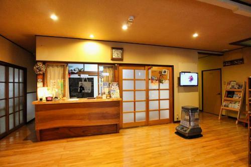 The lobby or reception area at Minshuku Yoshinoya