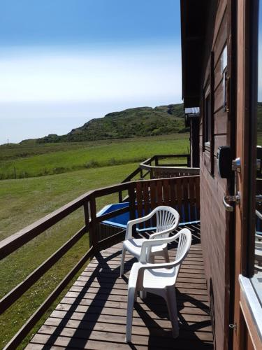 A balcony or terrace at Ásólfsstaðir Holiday Home