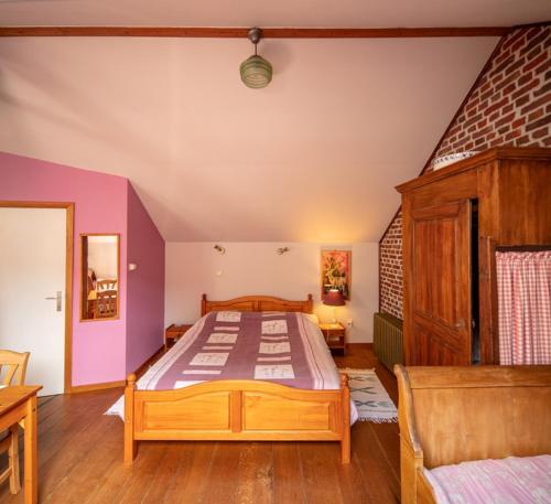Een bed of bedden in een kamer bij B&B Het Loonderhof