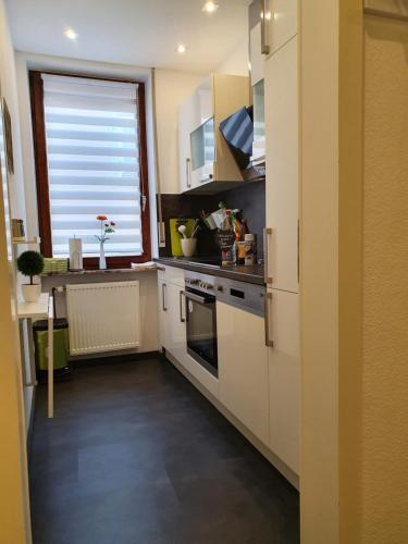 Küche/Küchenzeile in der Unterkunft Altstadtherz