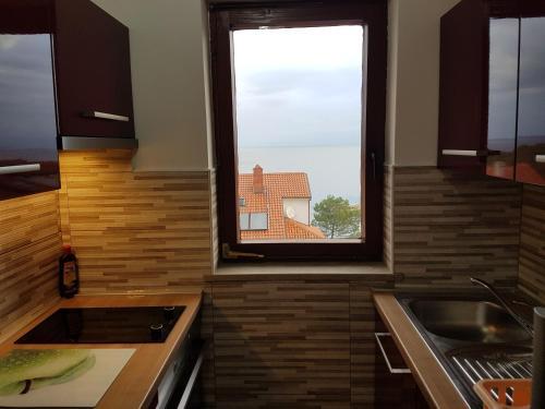 A kitchen or kitchenette at Apartments Katja