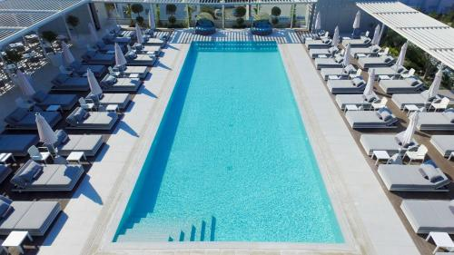 A view of the pool at Radisson Blu Hotel, Larnaca or nearby