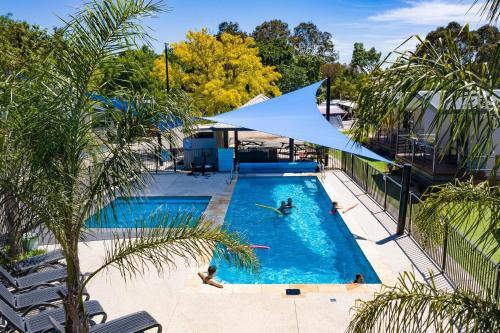A view of the pool at Barwon River Holiday Park or nearby