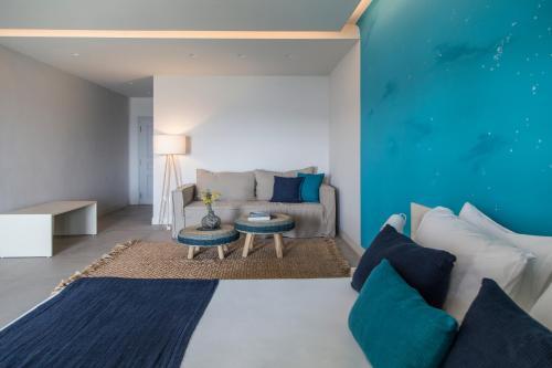 Χώρος καθιστικού στο Poseidon of Paros Hotel & Spa
