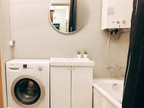 Ванная комната в Apartment By Metro Moskovskaya