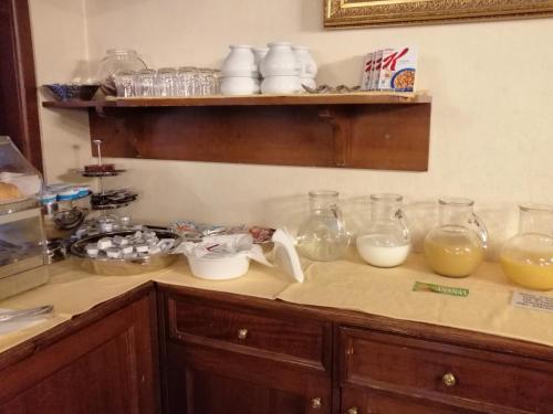 A cozinha ou cozinha compacta de Hotel Falier