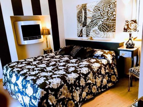 Letto o letti in una camera di Lori's Inn