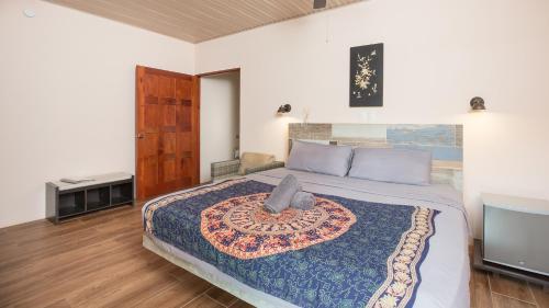 Cama o camas de una habitación en Jardín de los Monos