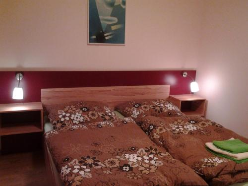 A bed or beds in a room at Ranč Orlice