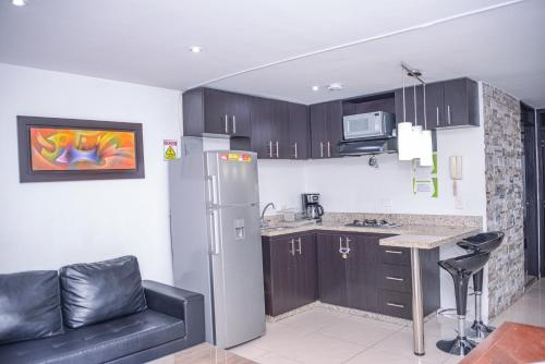 A kitchen or kitchenette at Apartment Carrera 301