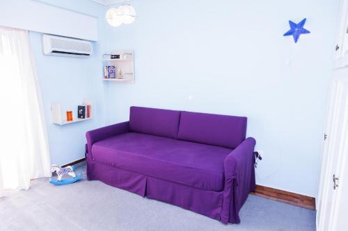 Posezení v ubytování Calm Oasis Apartment in Marousi!