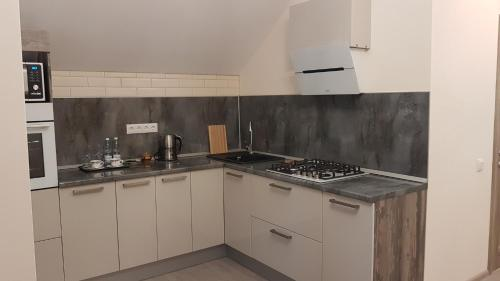 A kitchen or kitchenette at Арт Симбирск