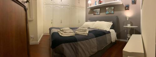 """Un ou plusieurs lits dans un hébergement de l'établissement Appartamento Orso """"Al 23"""""""