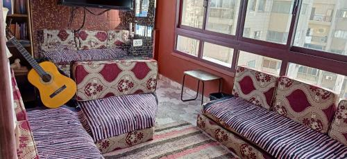 A seating area at Wake Up! Cairo Hostel
