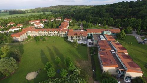 Blick auf K6 Seminarhotel aus der Vogelperspektive