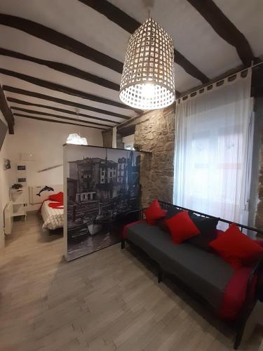 Zona de estar de Andra Mari Apartamentu Turistikoak